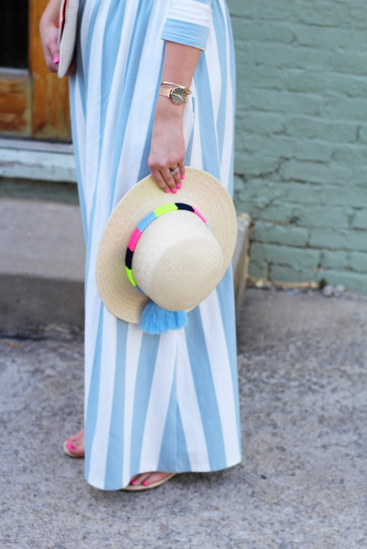 Striped maxi dress groopdealz review