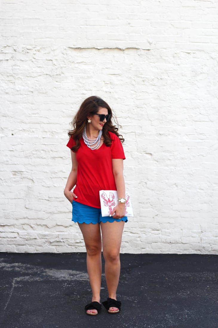 Festive Red, White, and Blue Outfit for the Fourth of July