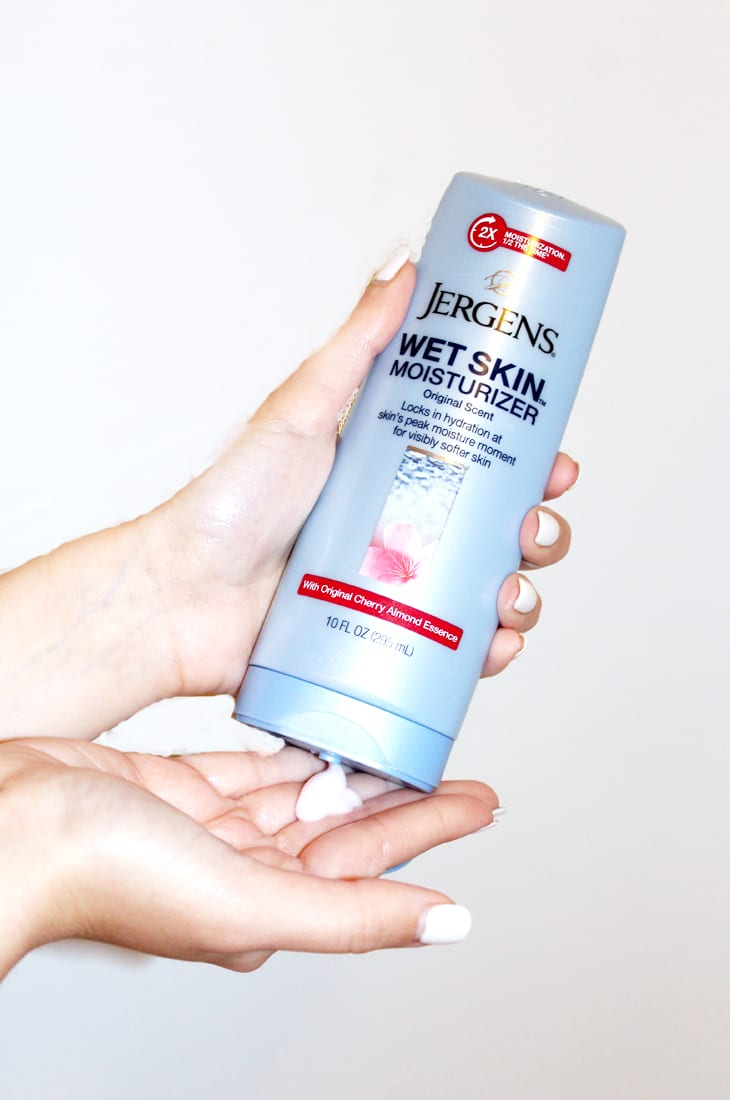 jergens wet skin moisturizer in shower