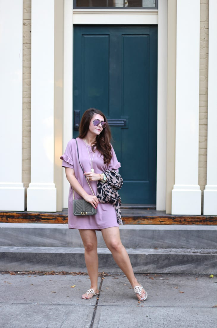 Lush Ruffle Tee Dress and Leopard Scarf--Best Budget Buys from the #Nsale