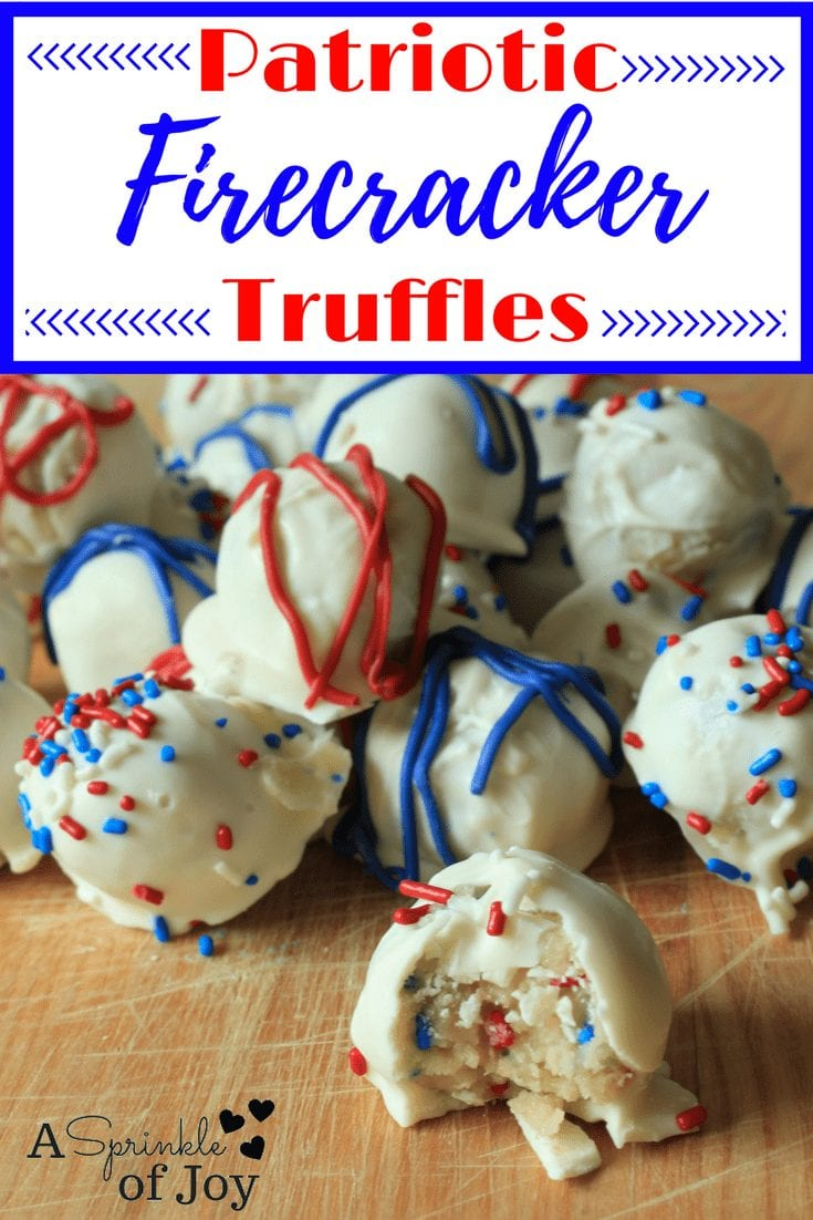 4th of July Food and Drink Ideas--Patriotic Truffles