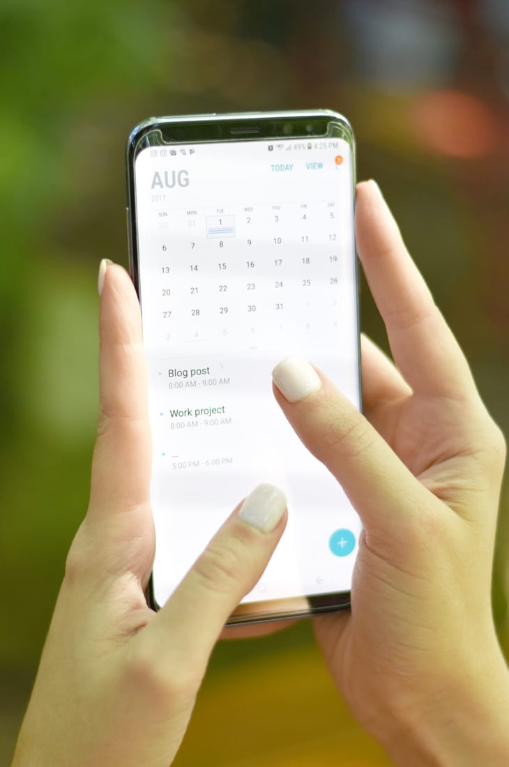 How to be productive with an on the go office Samsung Galaxy S8+