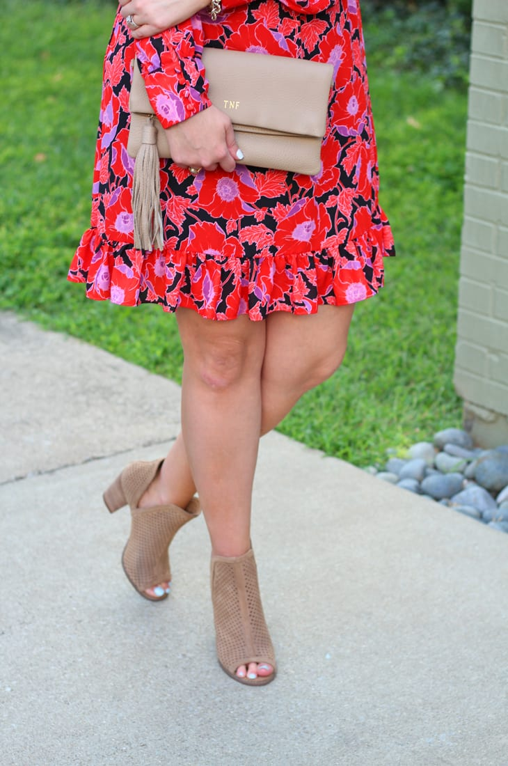 Must-have booties for late summer and early fall + fall floral dress