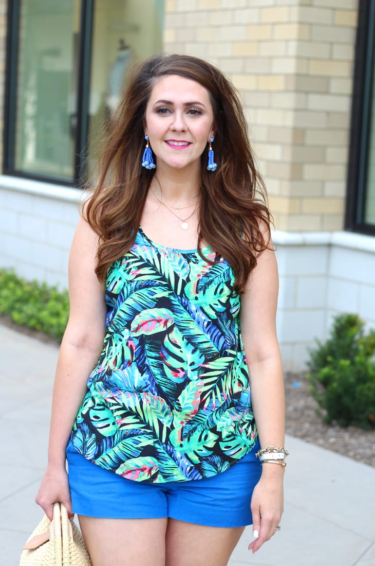 Tropical Print Tank and Pearl Sandals 8