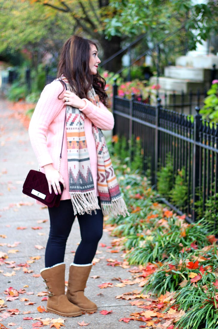 Perfect scarf and boot combo for fall