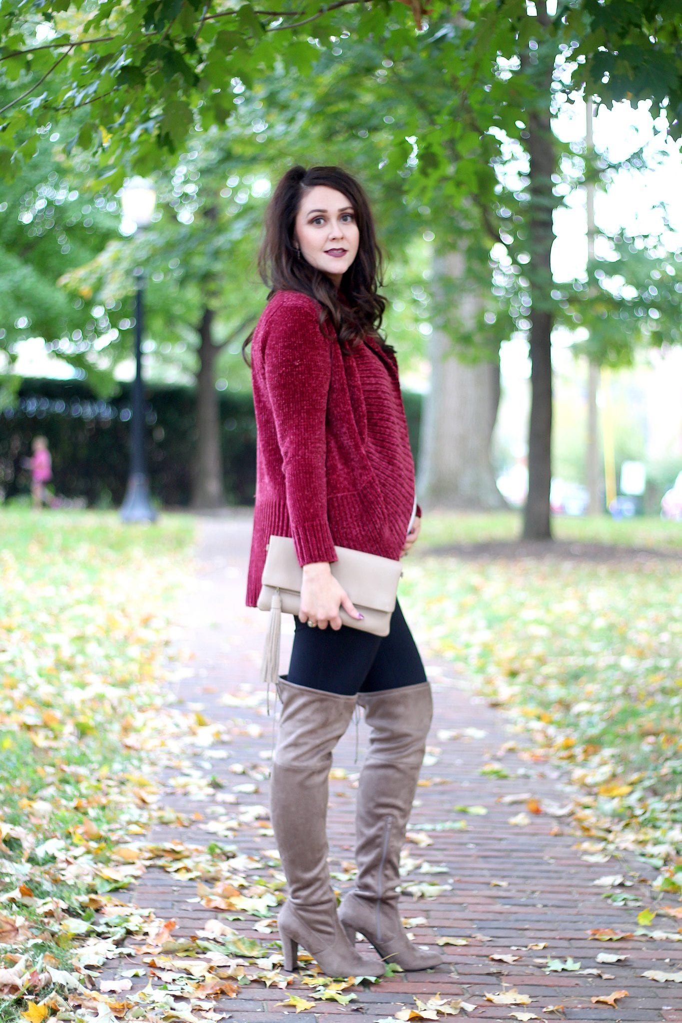 The coziest chenille cardigan for fall