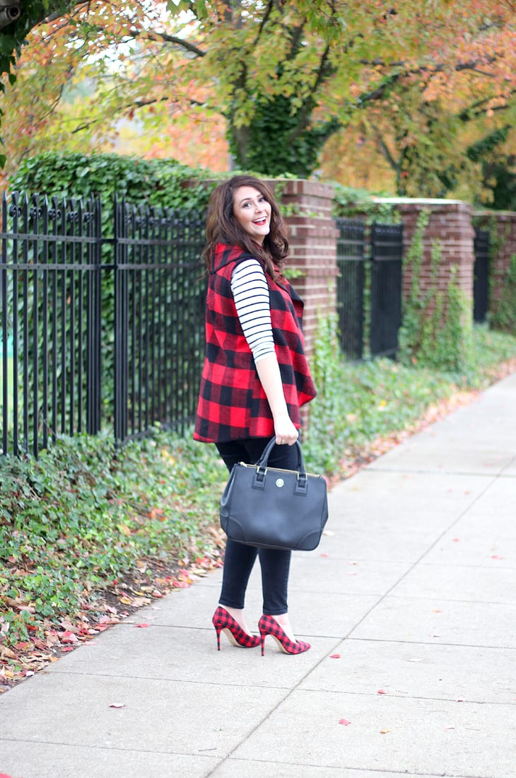 Buffalo Plaid Blanket Vest for the Holidays