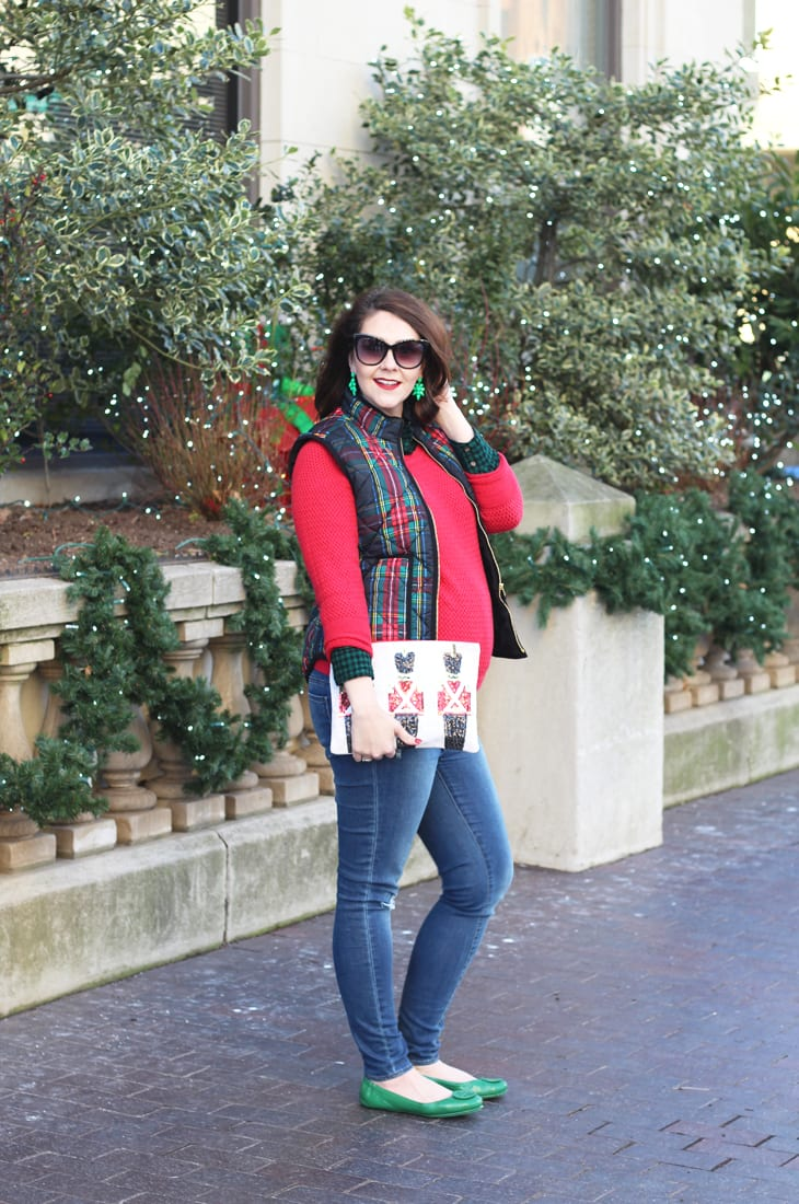 Holiday Plaid Vest Christmas Layers