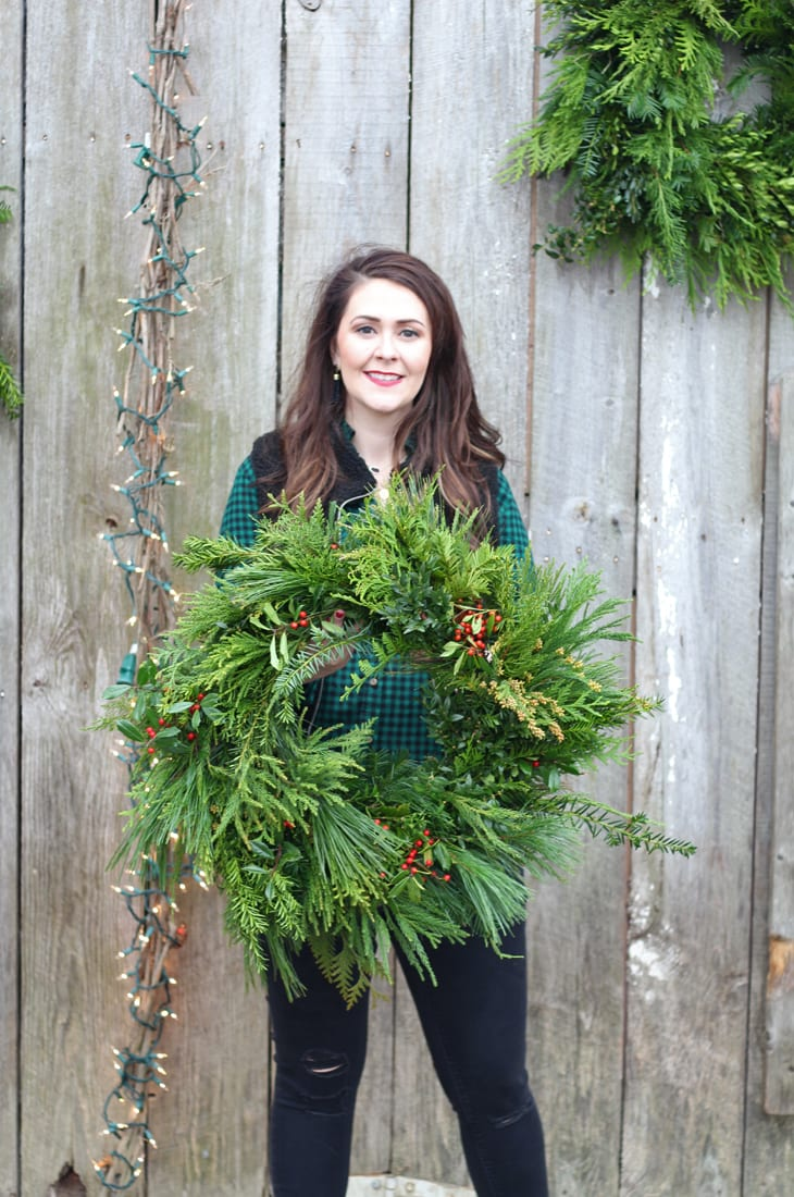 wreath making workshop at the barn at springhouse nicholasville, ky
