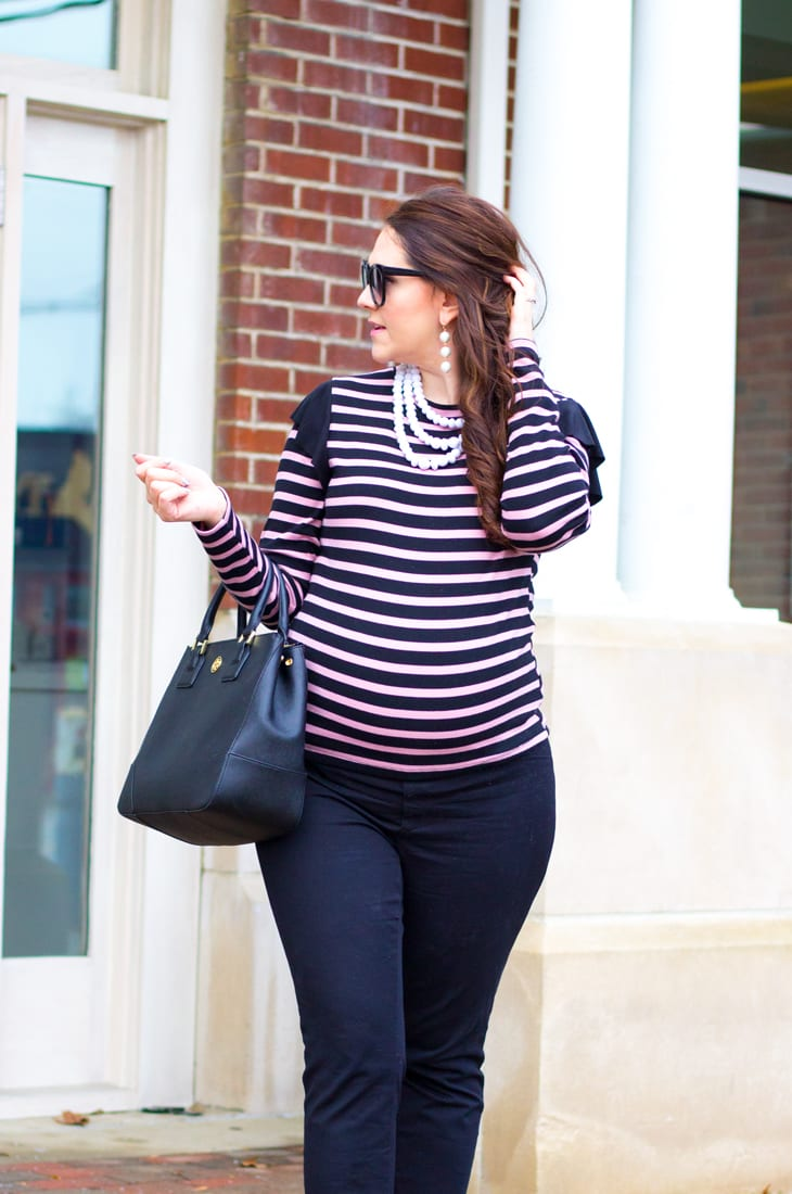 Best Black Maternity Pants To Wear To Work Bright On A