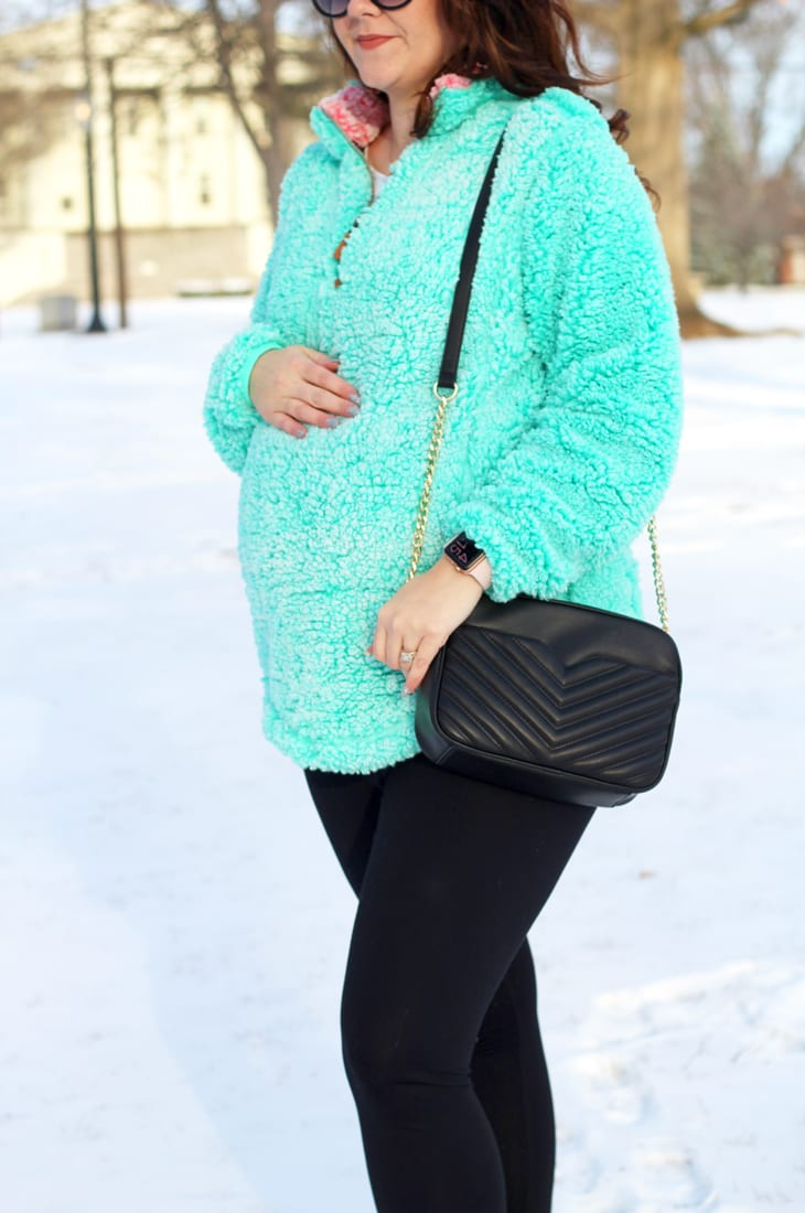 Simply Southern wubby fleece sherpa pullover with snow boots
