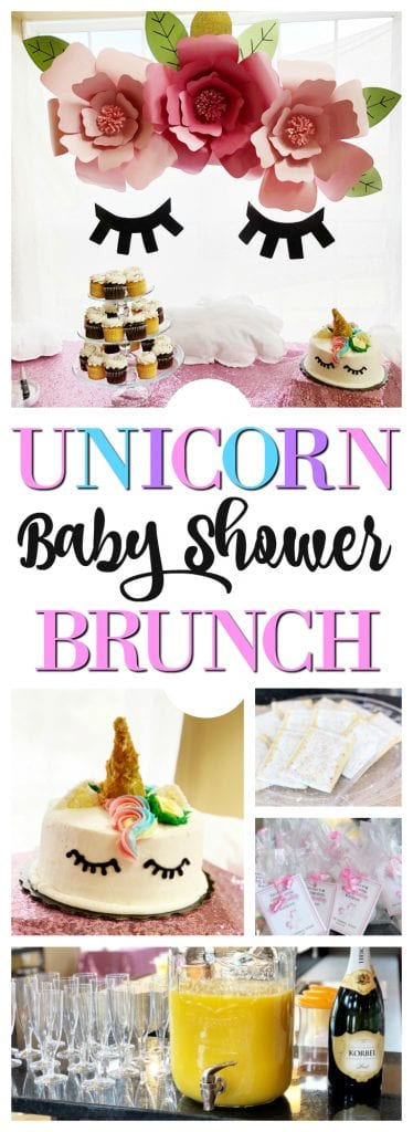 Unicorn baby shower brunch party--baby shower for baby girl