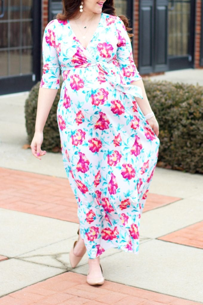 ... My Baby Shower In Lexington. I Felt Like Goldlilocks, Because Nothing  Was Just Right.haha Then I Saw This Beautiful Floral Print Maternity Maxi  Dress ...
