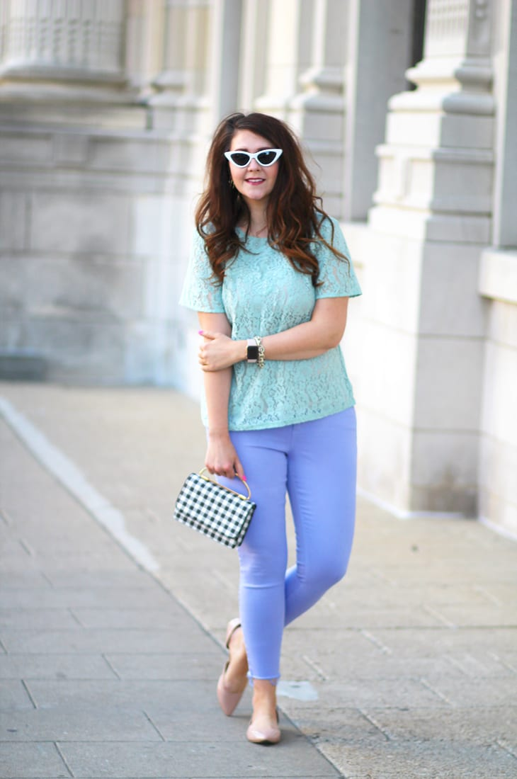 mint lace top