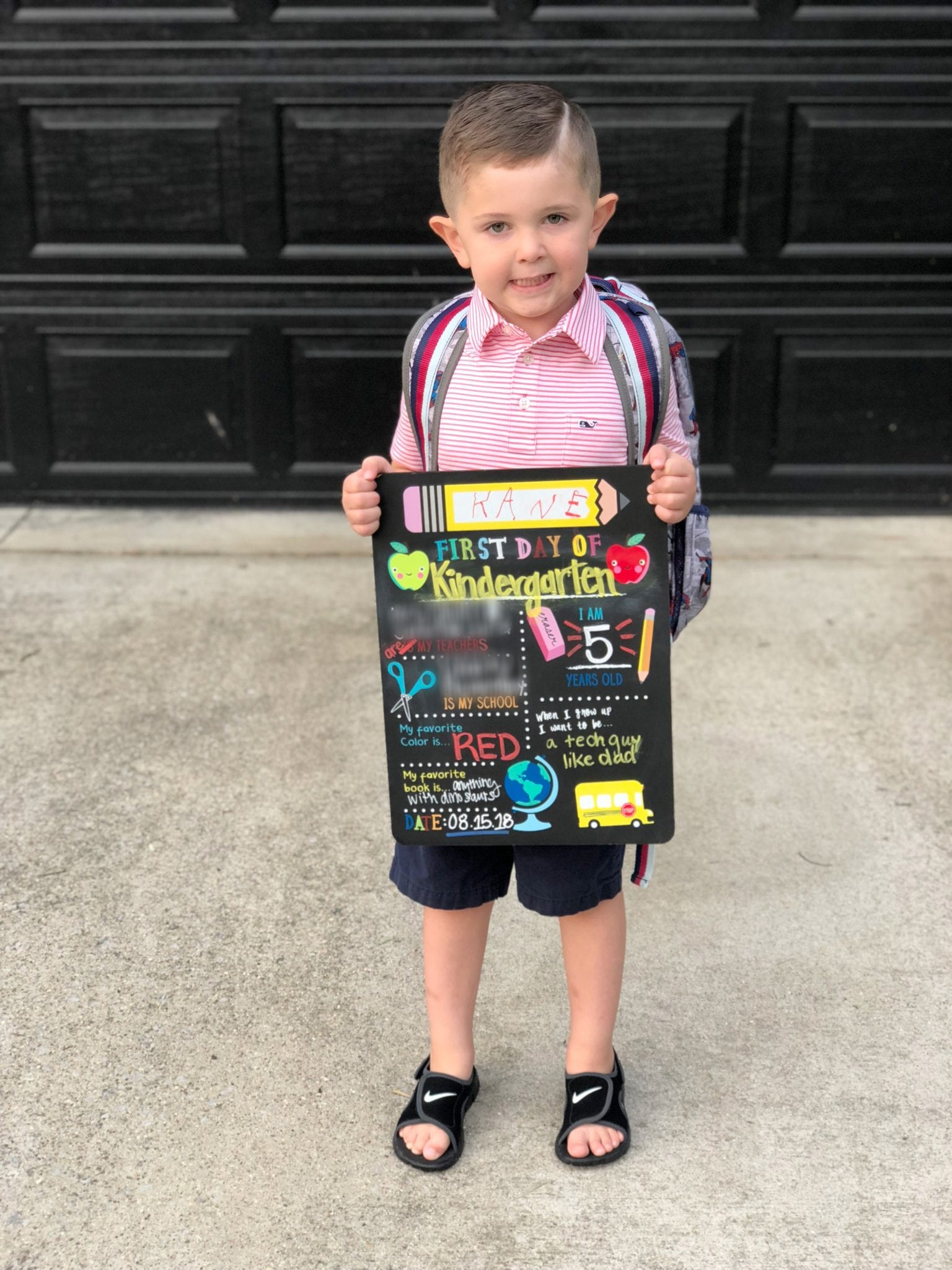 A letter to my son on his first day of Kindergarten. Parenting tips and advice for starting school.