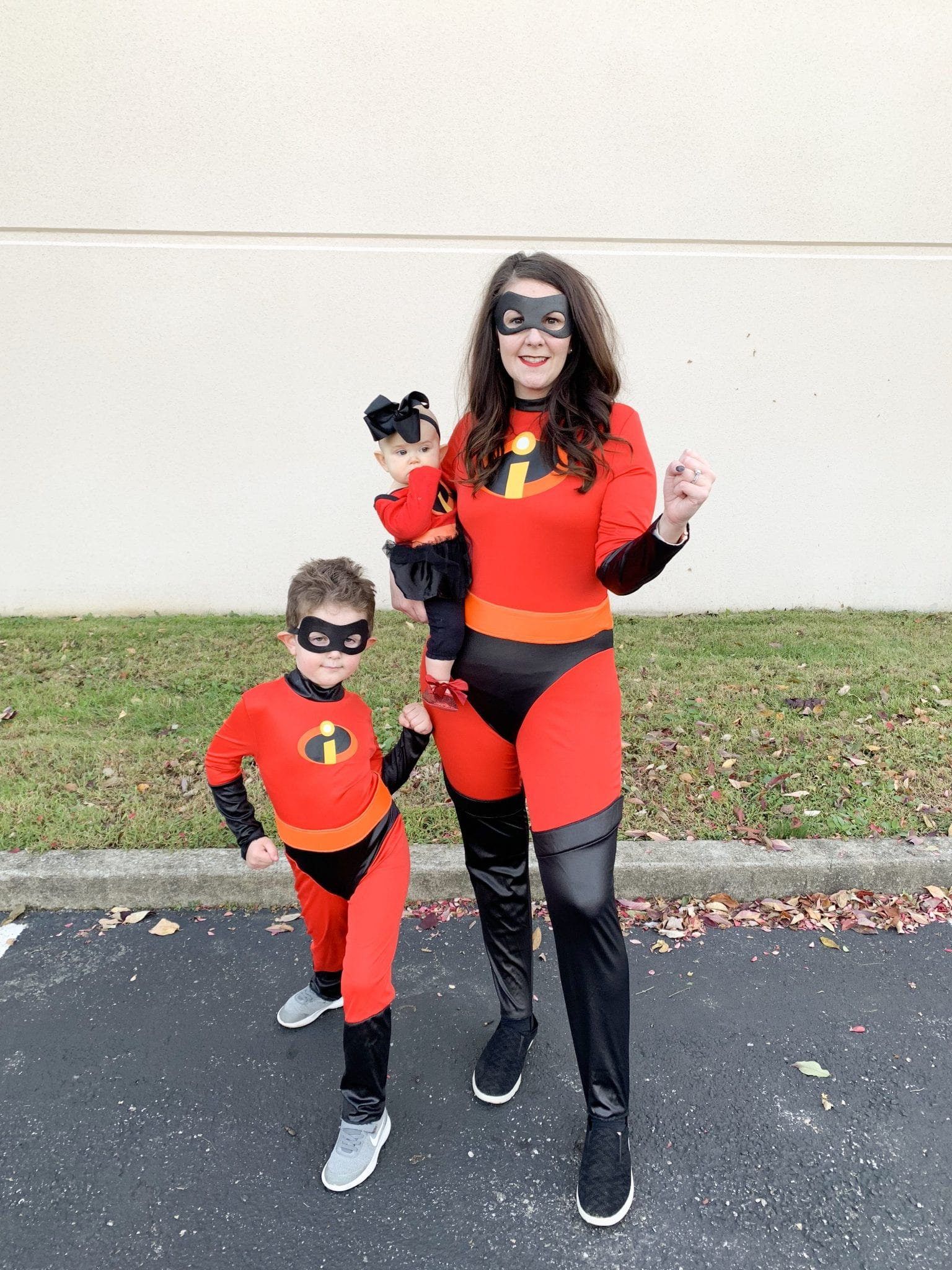 The Incredibles Family Halloween Costumes Mrs Incredible Elastigirl Dash And Baby Jack Jack Bright On A Budget
