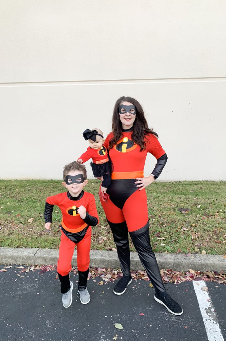 Family Halloween Costumes With Baby Girl.The Incredibles Family Halloween Costumes Mrs Incredible